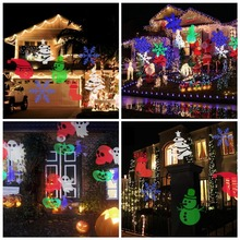 Laser Projector Lamps LED Stage Light Heart Snow Spider Bowknot Bat Christmas Party KTV bar Landscape Light Garden Lamp Outdoor
