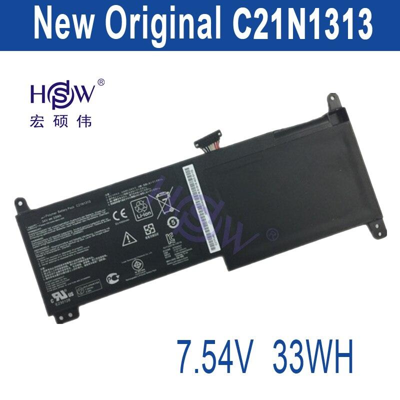 HSW New Original Genuine C21N1313 Battery For Asus TX201 Series 7.54v 33wh free shipping laptop batteria akku batterie