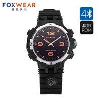 FOXWEAR F35 Inteligente Bluetooth Incorporado 4 GB de Memoria Soporte de Auriculares de Música Reproductor de MP3 Reloj Podómetro Calorías Dormir IP65 A Prueba de agua
