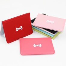 eTya Fashion Business Card Holder Card Case Women Bow Leather Wallet Credit Card Holder ID Card Cover Floral Cardholder(China)
