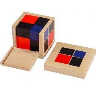 Montessori enfants Éducatifs Jouets En Bois Mathématiques Taching Puzzle jouet Binomiale Cube