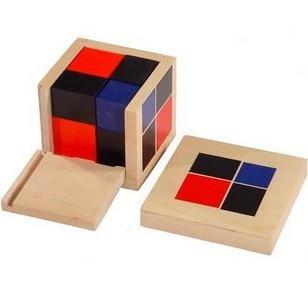 Montessori enfants jouets éducatifs en bois mathématiques Taching Puzzle jouet binôme Cube