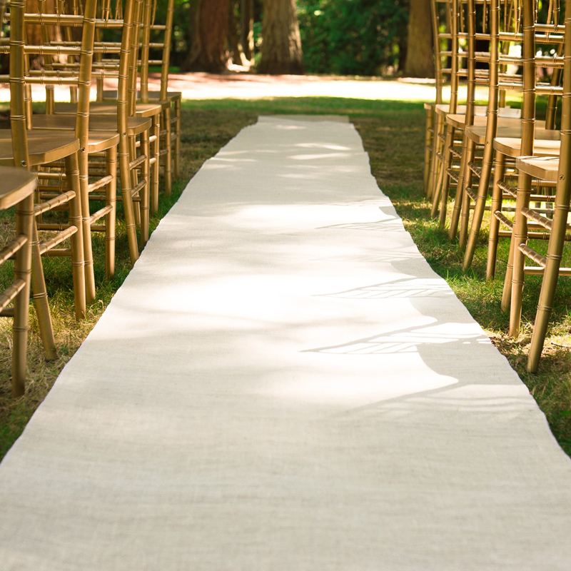 Free Shipping Quality Fantastic Look 80cm 30m White Wedding Ceremony Aisle Runner Burlap In Event Party From Home Garden On Aliexpress Alibaba