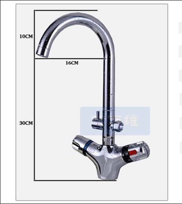 Thermostatic Bathroom Kitchen Faucet Single Handle Intelligent Anti ...