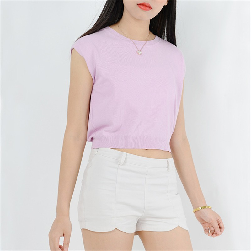 Summer 2016 Solid knitted short Pullover Sweater (26)