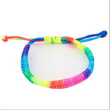 Home&Nest New Style! Adjustable Rainbow Fluorescent Colors Woven Bracelet Beautiful Fashion For Women Friend Gift Wholesale H211(China)