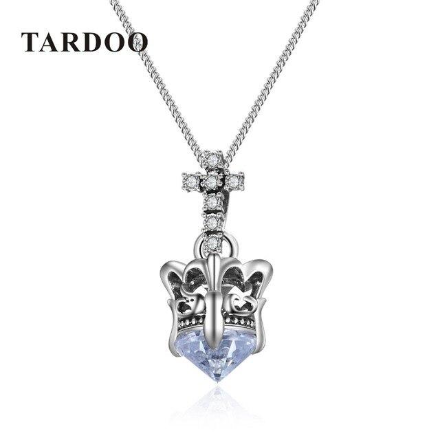 Tardoo Новый Подлинный Стерлингового Серебра 925 Циркон Корона Подвеска Ожерелье для Женщин Изысканный Бесконечность Ожерелье Бренд Ювелирных Украшений