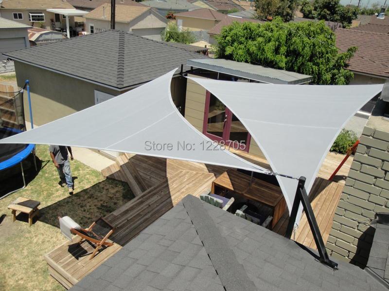 Aliexpress Com Buy 5 5 5m Waterproof Sun Shade Sail Triangular