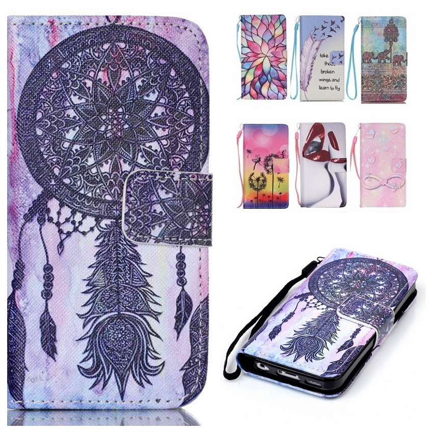 Fashion Wallet Cases Luxury Book Style PU Leather Flip Case Cover For iPhone 5 S iPhone 5S ShockProof Bags With Lanyard