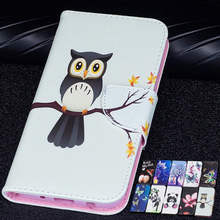 Lovely Owl Flip CASE Huawei Mate 20 Lite Mate20Pro Panda Printed PU Leather Card Wallet Stand Cover huawei mate pro cute case