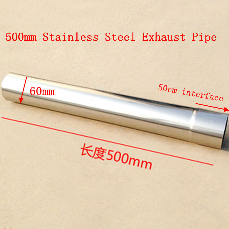 60*500mm Diameter 60mm Stainless Steel Exhaust Pipe Gas Water Heater Accessories