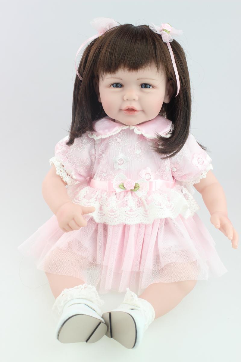 Silicone Bebe Reborn Babies Doll NPK 20 Inch Cute Girl Lifelike baby alive boneca Dolls Toys For Kids Christmas Gift
