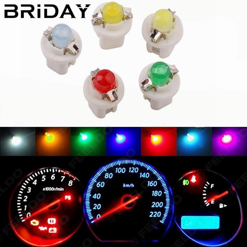 1шт Т5, В8.5 светодиодов инструмент свет лампы автомобилей приборная панель света сигнальные огни датчик светодиодные боковые лампы авто Клин лампы постоянного тока 12В