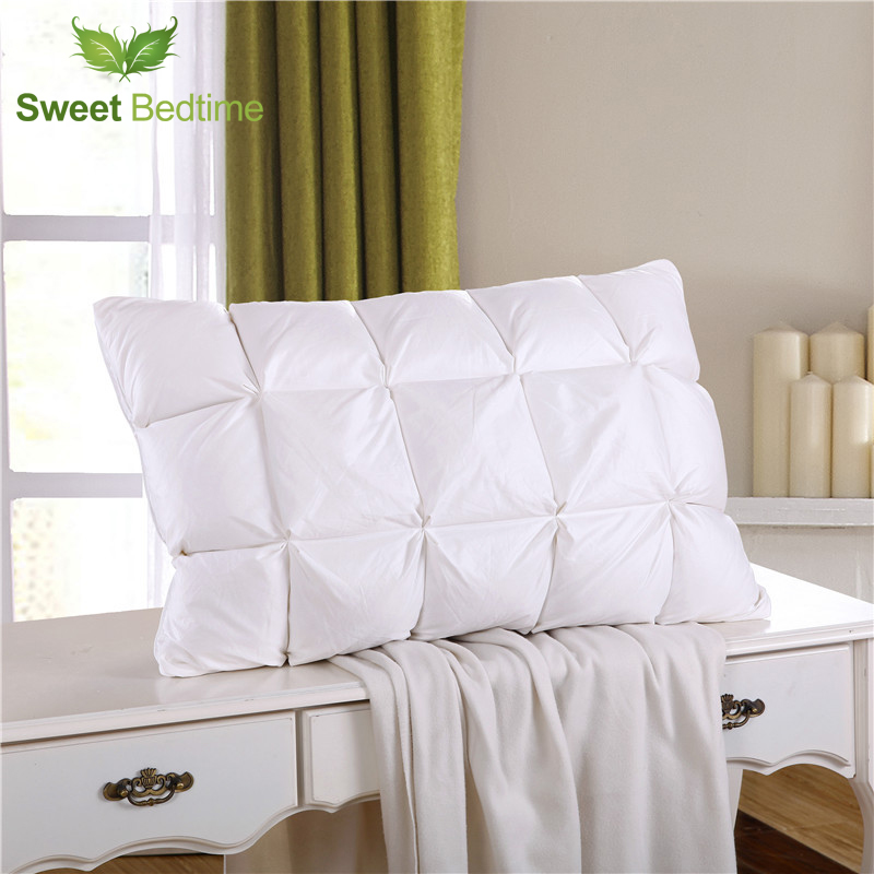 Special Home Goose Down Pillow Inserts Feather Cervical Neck Sleep Inner Queen King Standard
