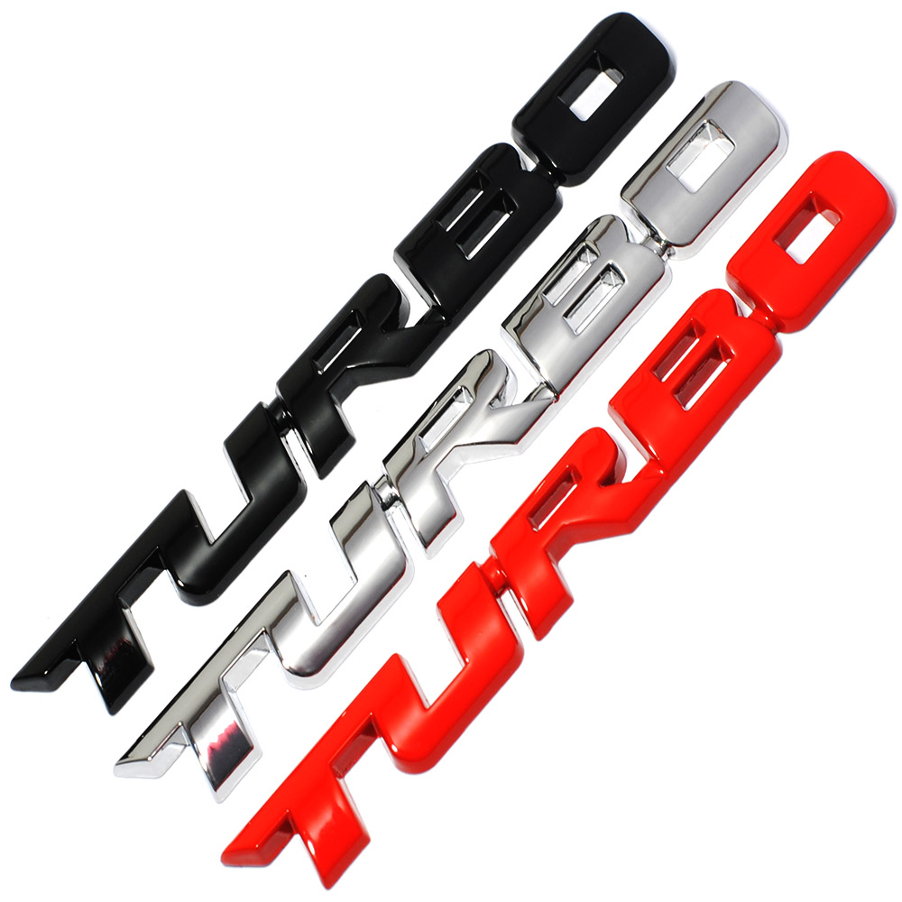 3D Metal TURBO Emblem Car Styling Sticker Body Rear Tailgate Badge For Ford Focus 2 3 ST RS Fiesta Mondeo Tuga Ecosport Fusion metal red st front grille sticker car head grill emblem badge chrome sticker for ford fiesta focus mondeo auto car styling