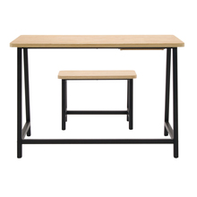 Studio Designs Home Office Ashwood Homeroom Desk and Bench – Ashwood/Graphite