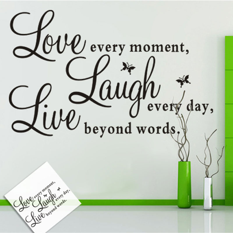 Removable Pvc Live Love Laugh Letters Transp Waterproof Wall Stickers Vinyl Quotes Decal Home Decor In From Garden On