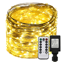 50M 500 Leds 100M 1000 Leds LED String Lights Remote Control 8 Modes Warm White Christmas