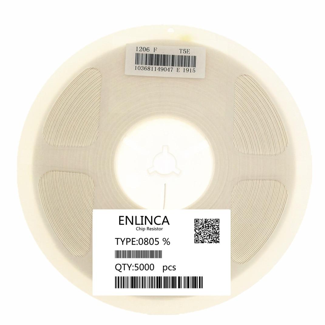 ENLINCA 5000 stücke volle rolle 0805 5% smd chip widerstand widerstände 0R-10M 1/8W widerstand 1R 10R 1K 10K 10R 47R 470R 100R 47K 470K 1M