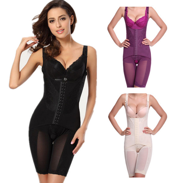Plus size women body magica bellezza bruciare i grassi scolpire dimagrante addome bodyshaper hook corsetto shaper shapewear 4xl