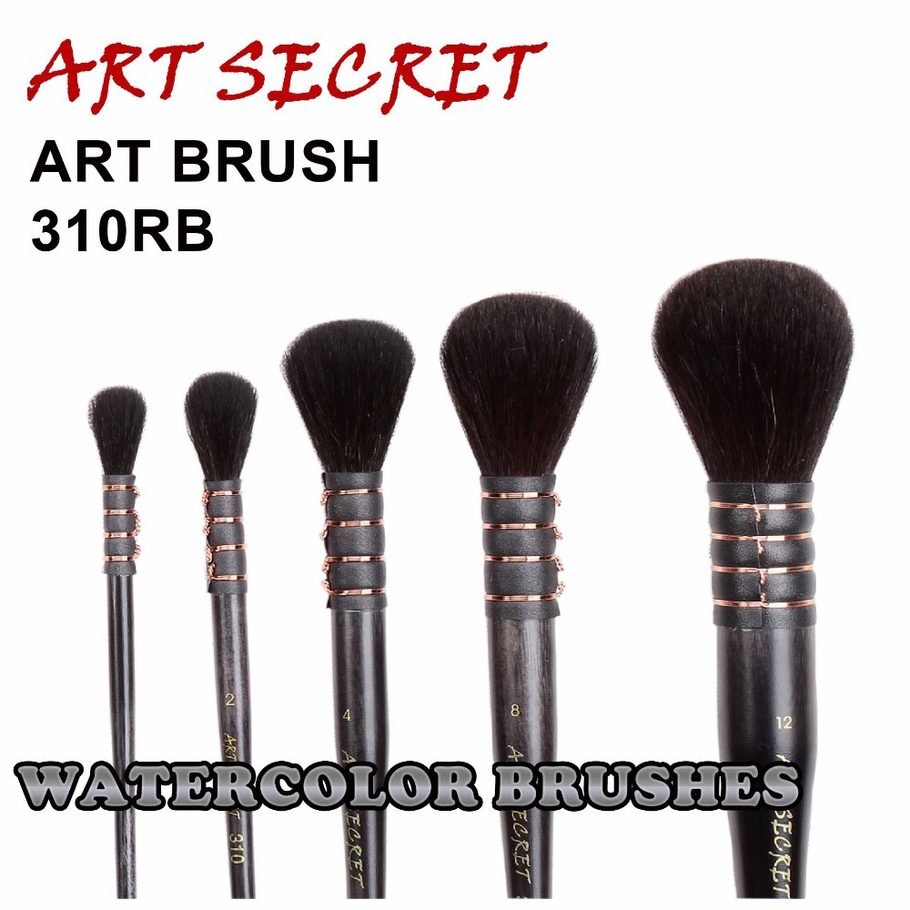 310RB High Quality Squirrel Hair Wooden Handle Art Paint Brushes Artistic Painting Watercolor Brush Pen For Drawing