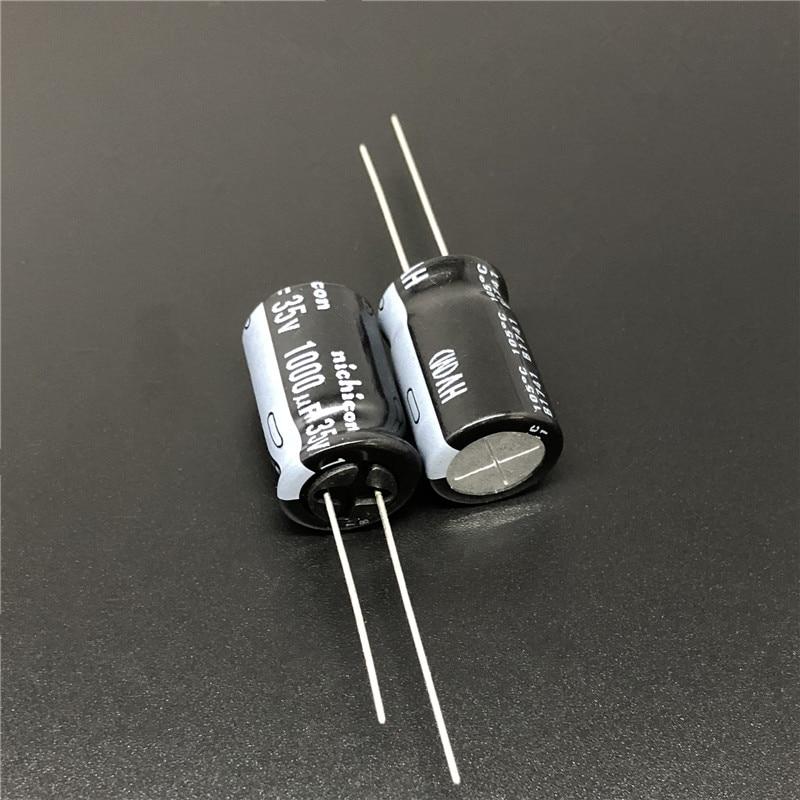 5 шт./50 шт. 1000 мкФ 35В NICHICON HV серия 12,5x20 Высокая пульсация тока низкое сопротивление 35V1000uF алюминиевый электролитический конденсатор