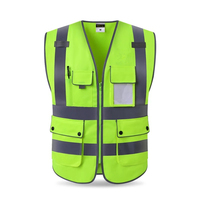 Free Print Logo High Visibility Reflective Vest Working Clothes Motorcycle Cycling Sports Outdoor Reflective Safety Clothing