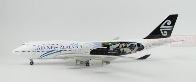 BBOX209 Blue Box New Zealand aviation ZK-NBW B747-400 all black team 1:200 commercial jetliners plane model hobby