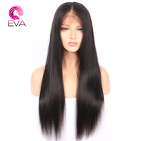Eva Hair Straight Full Lace Human Hair Wigs With Baby Hair 10 26 Brazilian Remy Hair