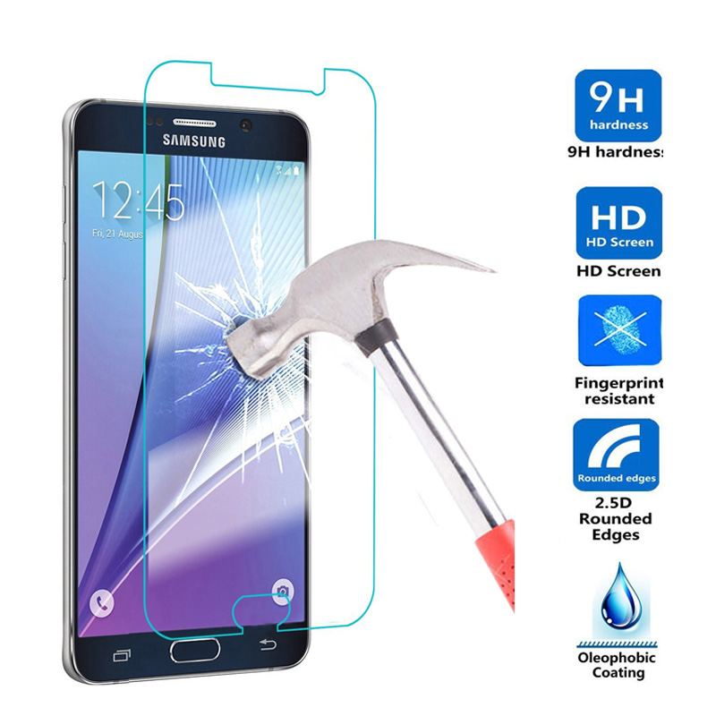 2.5D 9H Screen Protector Tempered Glass For Samsung Galaxy J1 mini J3 A3 A5 A7 2016 S3 S4 S5 S6 Grand Prime J5 Note 3 4 5 J7