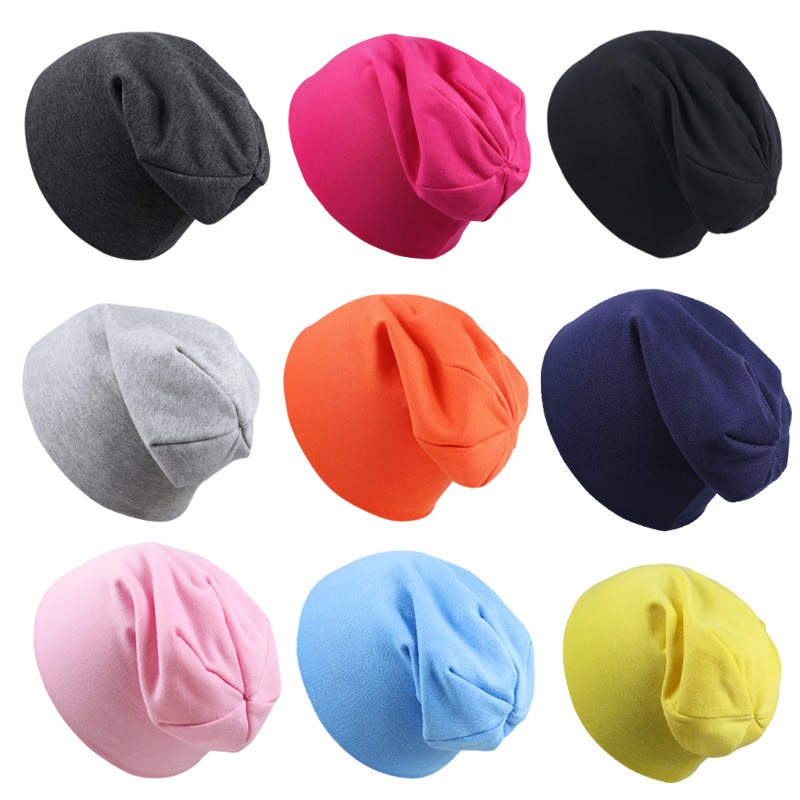 New Baby Street Dance Hip Hop Hat Spring Autumn Baby Hat Scarf for Boys Girls Knitted Cap Winter Warm Solid Color Children Hat 1