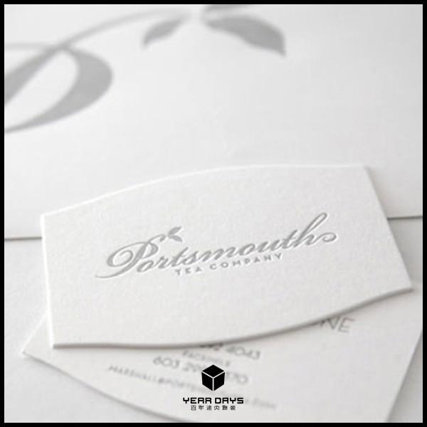 600gsm Coton Papier Personnalise Typographie Cartes De Visite Fournisseur Blanc Brillant Couleur Dimpression