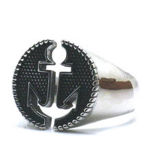 316L Stainle Steel Punk Gothic Newest Anchor Ring