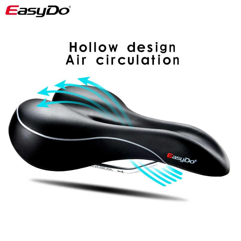 EASYDO Nyaman Tahan Air Sepeda Lembut Cushion Pelana Cocok untuk MTB ROAD Sepeda Sepeda Lipat Hollow Desain Ergonomis Pelana