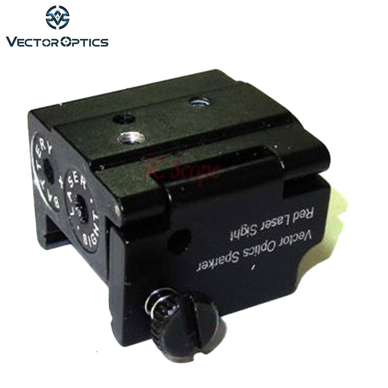 TAC Vector Optics Mini Red Laser Sight Dot Scope with 21mm Picaitinny Rail for Glock Ruger Compact Pistol Handgun Free Shipping