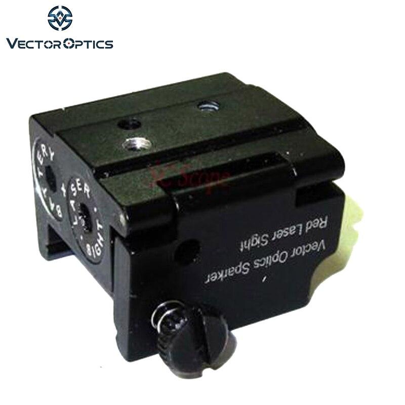 TAC Vectorielle Optique Mini Rouge Laser Sight Portée Dot avec 21mm Picaitinny Rail pour Glock Ruger Compact Pistolet Arme de Poing Livraison gratuite