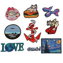 Cute Dog Cat Patch for Clothing Baby  Backpack Decoration Patches Small Applique Love Animal Iron on Embroidered Badges
