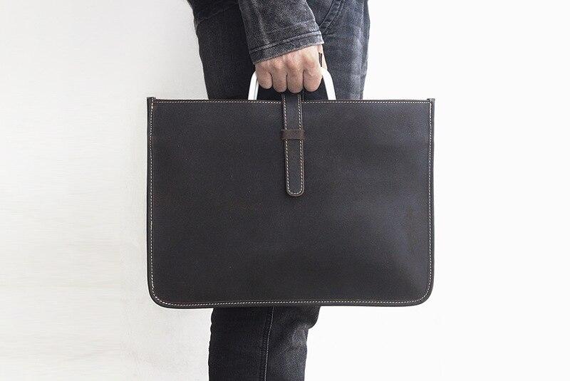 2019 nouveau style en cuir rectangle mince sac d'affaires sacs pour ordinateur portable de bureau-in Sacs à dos from Baggages et sacs    2