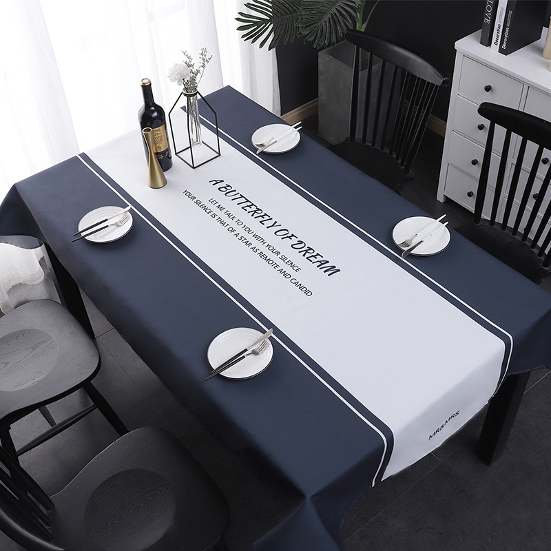 Nordic simple tablecloth waterproof disposable washable rectangular cotton and linen coffee table cloth solid color light luxury image