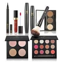 Hot Makeup Set Professional Gift For Beauty Eye Shadow Lip Gloss Blush Pink Lip Liner Make