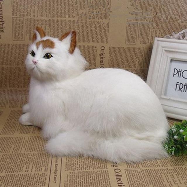 89dec8ab2868 Dorimytrader realistic animal lying cat plush toy lifelike mini cats pet  toy decoration gift 31x18cm DY80011