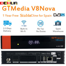 Freesat V8 upgrade Gtmedia V8 NOVA Satellite TV Receiver DVB-S2 receptor Europe Clines for 1 Year Built Wifi Dongle High Stable цена и фото