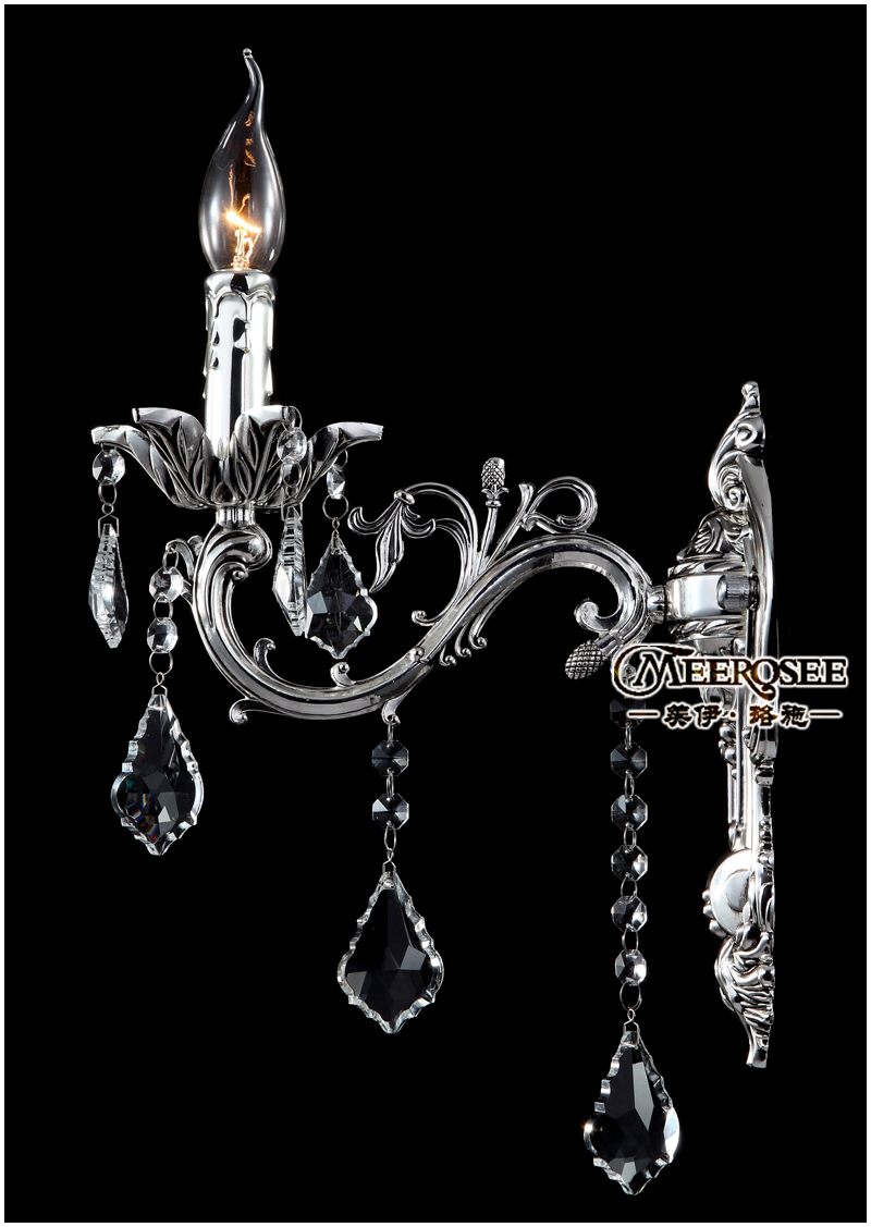 Aliexpress com buy free shipping wholesale crystal wall light silver wall sconces lamp wall brackets light from reliable brackets braces suppliers