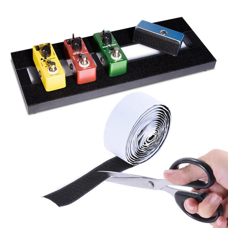 цена на Mounting Tape Guitar Part Power-Grip Pedalboard Electric Guitar Effector Effect Pedal Mounting Tape 2M*5CM Hook + Loop