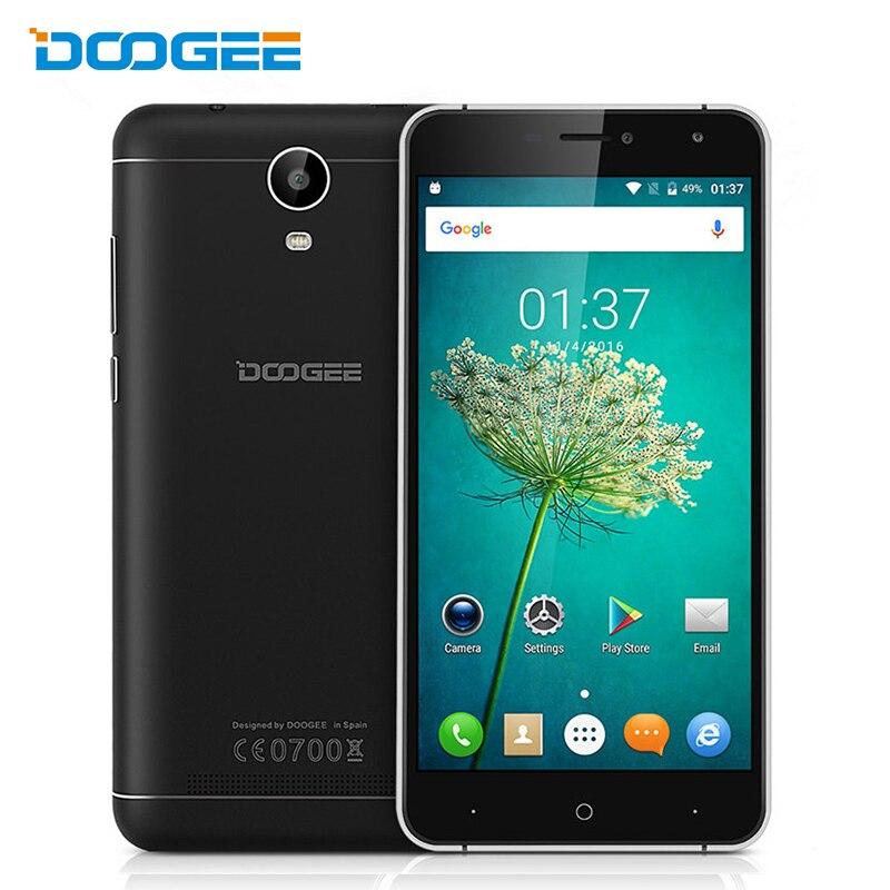 "Цена за Новый Оригинальный 6 ""Doogee X7 Pro Смартфон Android 6.0 pobile Телефон MT6737 Quad Core 2 ГБ RAM 16 ГБ 13MP OTG 4 Г Touch ID Мобильного Телефона"