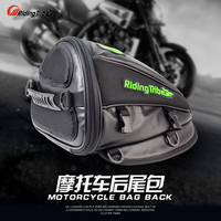 Free Shipping RIDING TRIBE Synthetic Leather Motorcycle Travel Tool Tail Bag Luggage Waterproof Riding Handbag Backpack