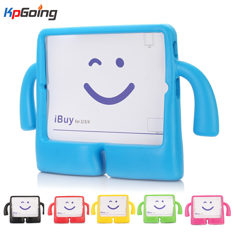For Apple iPad 2 3 4 EVA Foam Shockproof Case for iPad2 ipad3 ipad4 Funda Coque Children Kids Cute TV Stand Protective Cover shockproof kids children save protective
