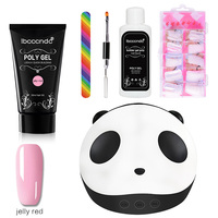 Nail Art Kit Nails Dryer Nail Extension Poly Gel Fake Nails Tips File Brush Set Drop Ship