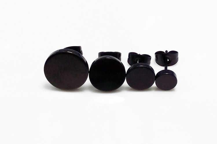 Горячая Мода женские мужские панк черные Серебряные Золотые штанги шпильки из нержавеющей стали круглые маленькие черные серьги вrincos бижутерия