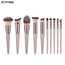Women Make Up Flame Brush Professional Champagne Makeup Brushes Multipurpose Cosmetic Blending Contour Pinceaux Maquiagem Kits